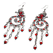 Spiral Resin Alloy Retro Butterfly Earrings