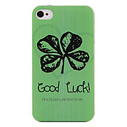 Lucky Four Leaf Clover Back Case for iPhone 4/4S