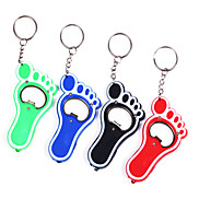 1PCS Plastic Bare Feet Bottle Opener Keychain