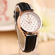 Women's Lovely Full Diamond Hand-point Fashion Women Leather Watch (Assorted Color)