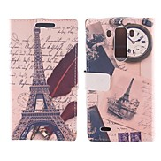 The Eiffel Tower Design Postcard Mode PU Full Body Case with Card Slot for LG G3
