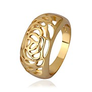Fashion Circular Hollow Gold Plate Women's Ring (1 Pcs)