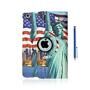 Statue of Liberty PU Leather Full Body Case with Stand and Capacitance Pen for iPad mini/ mini2