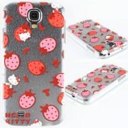 Strawberry Kitten Pattern PC Hard Case for Samsung S4 I9500