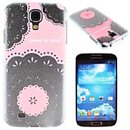 Transparent Pink Ribbon Lace Pattern PC Hard Case for Samsung S4 I9500