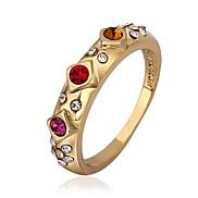 Fashion Jewelry Inlaid Zircon Gold Plate Women's Ring (1 Pcs)