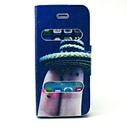 Finger Pattern PU Leather Full Body Case with Stand for iPhone 5/5S
