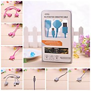 OTG Multifunction Conductive Data/Charging Cable for iPhone/Others(22cm,with Packing)