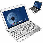Aluminum Bluetooth Keyboard with Built-in Back Cover for Samsung Galaxy Tab 3 10.1 P5200/P5210