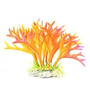 12cm Orange Simulation Plants for Fish Tank Decoration
