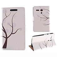 The Tree Pattern PU Full Body Case with Card Slot for Motorola MOTO G