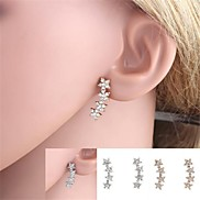 Exquisite Starry Full Crystal-Setting Metal Earrings  (1 Pair)