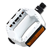 YELVQI Aluminum Alloy White Bike Pedals with Reflectors