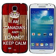 Milocos ™ Canadian National Flag Can Not Keep Calm Hard Case for Samsung Galaxy S4 i9500