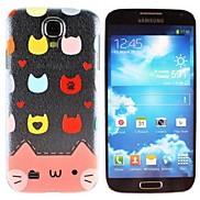Colorful Pussy Cat Pattern PC Hard Case for Samsung S4 I9500
