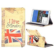 London 360 Degree Rotate Flip Stand PC+Leather Case with Elastic Belt for Samsung Galaxy Tab Pro 8.4 T320