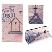 The Eiffel Tower Design PU Full Body Case with Card Slot for HTC One M8