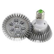 7W E26/E27 LED Par Lights 7 High Power LED 700LM lm Warm White Dimmable AC 220-240 V