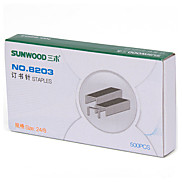 Sunwood®  8203 50 Pages Of Staples/Stitching Needle Specifications (24/8) Can Be Used With  8522 Stapler (500Psc / Box) 10 Boxes