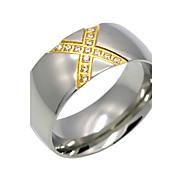 Fashion Crossover 'X' Shape Titanium Steel Rings 18K Gold Brand Design  Fashion Jewelry For Women