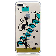 For Apple iPhone 7 7 Plus 6S 6 Plus SE 5S 5 Stairs Cat Pattern Painted High Penetration TPU Material IMD Process Soft Case Phone Case