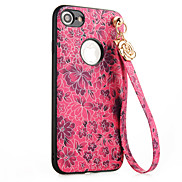 For Apple iPhone 7 7 Plus Case Cover Cherry Blossoms Pattern PC Backplane TPU Border Ornaments Phone Case