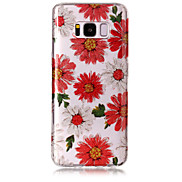 Case For Samsung Galaxy S8 Plus S8 Phone Case TPU Material IMD Process Flowers Pattern HD Flash Powder Phone Case S7 Edge S7 S6 Edge S6