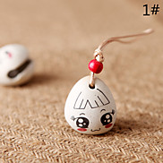 Bag / Phone / Keychain Charm Girl Jingle Bell Cartoon Toy  Ceramic