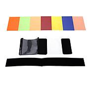 andoer® Quadratfiltersatz 7 Farben Universal-Speedlites mit mgica Korea für Sony Canon Nikon Olymp Pentax und andere blinkt