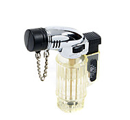 Translucent Butane Jet Lighter (Random Color)