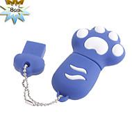 8gb chien de style patte lecteur flash USB (bleu)