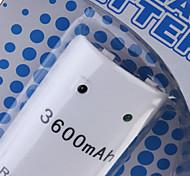 batterie rechargeable (3600mAh) pour wii / manette wii u à distance