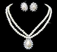 bella cristalli e perle di imitazione gioielleria, tra collane e orecchini
