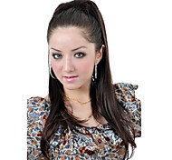 Synthetic Dark Coffee Long Straight Ponytail Hairpiece