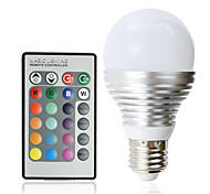 E26/E27 LED Globe Bulbs A60(A19) 3 High Power LED 180 lm RGB AC 100-240 V