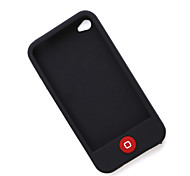 Case de Silicone para iPhone 4 (Preto)