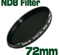 emolux de densidad neutra de 72mm filtro ND8