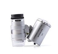 Super Mini 60X Microscope with 2-LED Illumination + Money/Currency Detecting UV Light (3*LR1130)