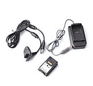 4-en-1 kit de carga con batería recargable (4800mAh) para Xbox 360 (negro)