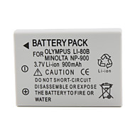 Cámara de 900mAh batería para Olympus T100, X960 y más