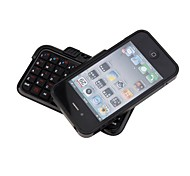 Rotate Mini Rechargeable Wireless Bluetooth Flip-Out QWERTY Keyboard with Plastic Case for iPhone4