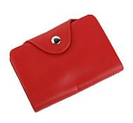 elegante funda de cuero de negocios tarjeta de caso (rojo)