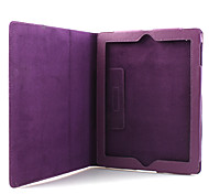 litchi grano caso pu stile in pelle e supporto per Apple iPad 2 (viola)