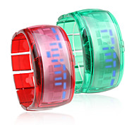 Paar Armband Design Zukunft blaue LED Armbanduhr - grün & rot