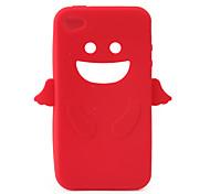 Engel Schutz Silicagel Fall für iphone4 - rot