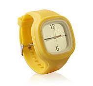douce gelée de silicium montre, jaunes