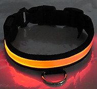 collare notte riflettente per cani (120cm/47.2inch, arancione)