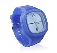 douce gelée de silicium montre, bleue