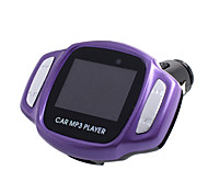Car MP3 Player With FM Modulator, USB/TF Card Reader, LCD-Purple