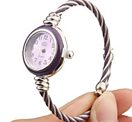 Quartz Watch with Metal Rope Watch Strap - Purple Face Cool Watches Unique Watches